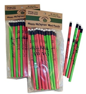 Happy Hallogreen Color-Changing Mood Pencils — Pack of 25 ($8)