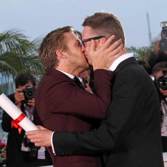 Ryan couldn't contain himself when his Drive director Nicolas Winding Refn won the best director award at the Cannes Film Festival in May.