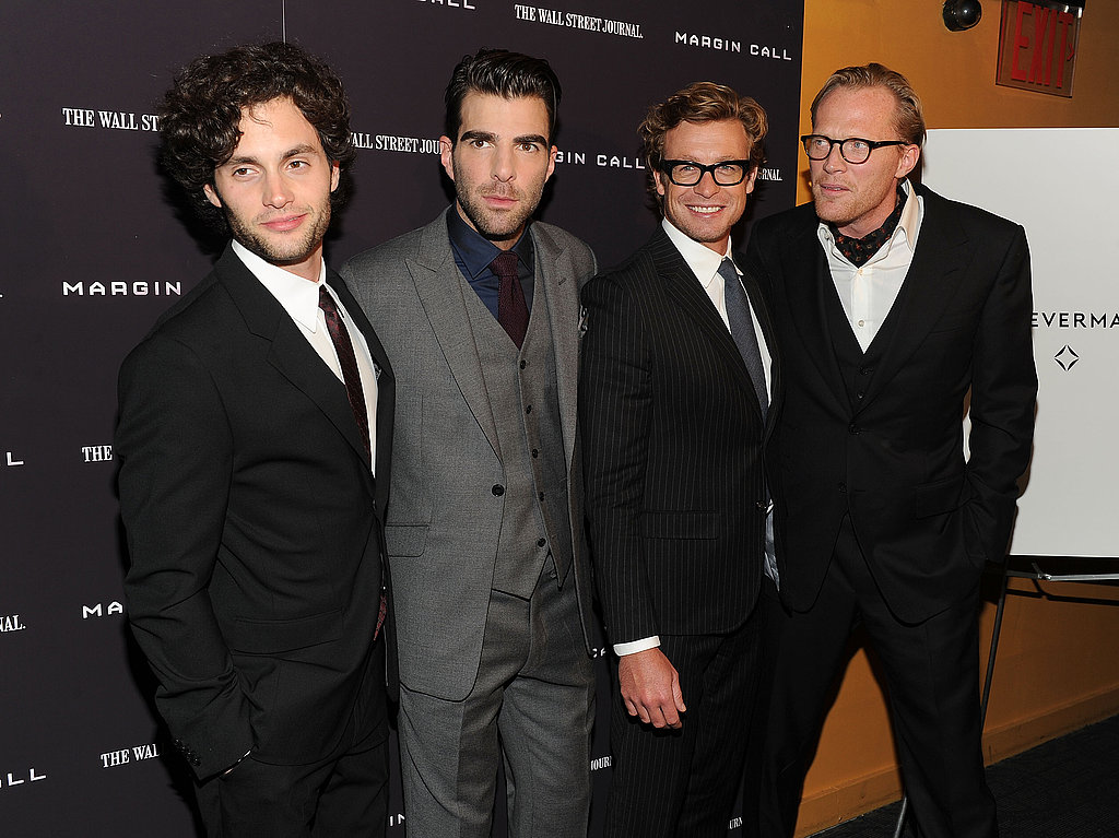 Penn posed with Zachary Quinto, Simon Baker, and Paul Bettany.