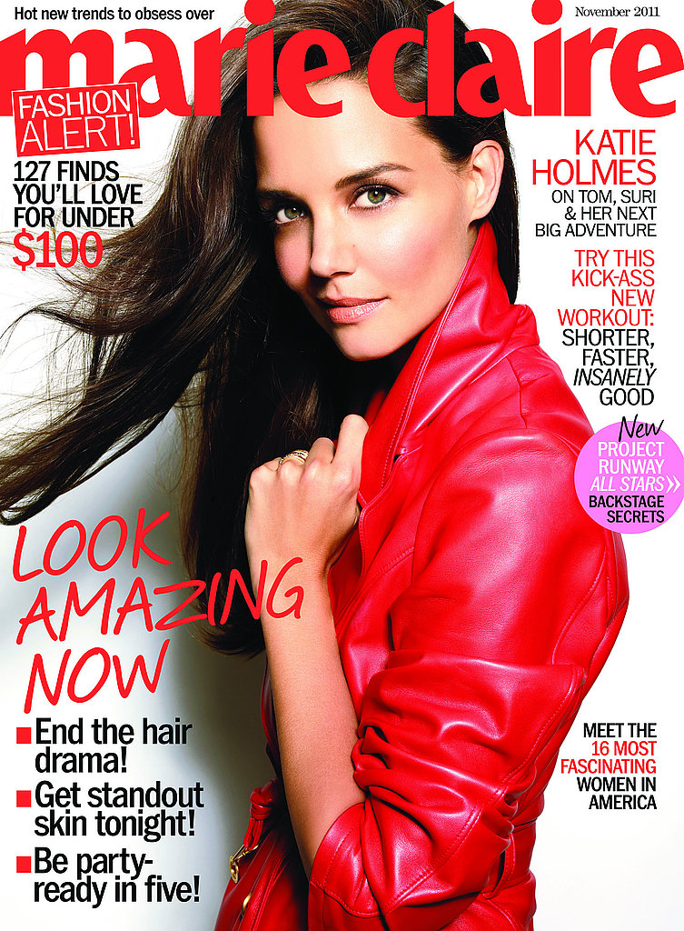 Katie Holmes on the cover of Marie Claire magazine.