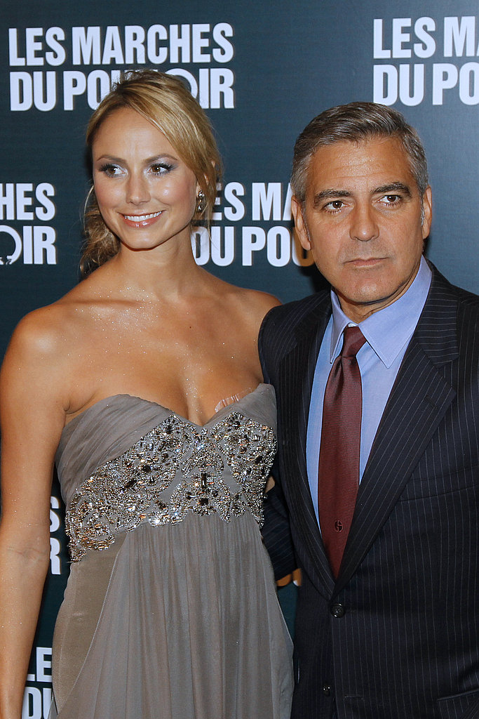 George Clooney and Stacy Keibler in Paris.