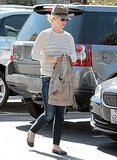 January Jones runs errands in LA.