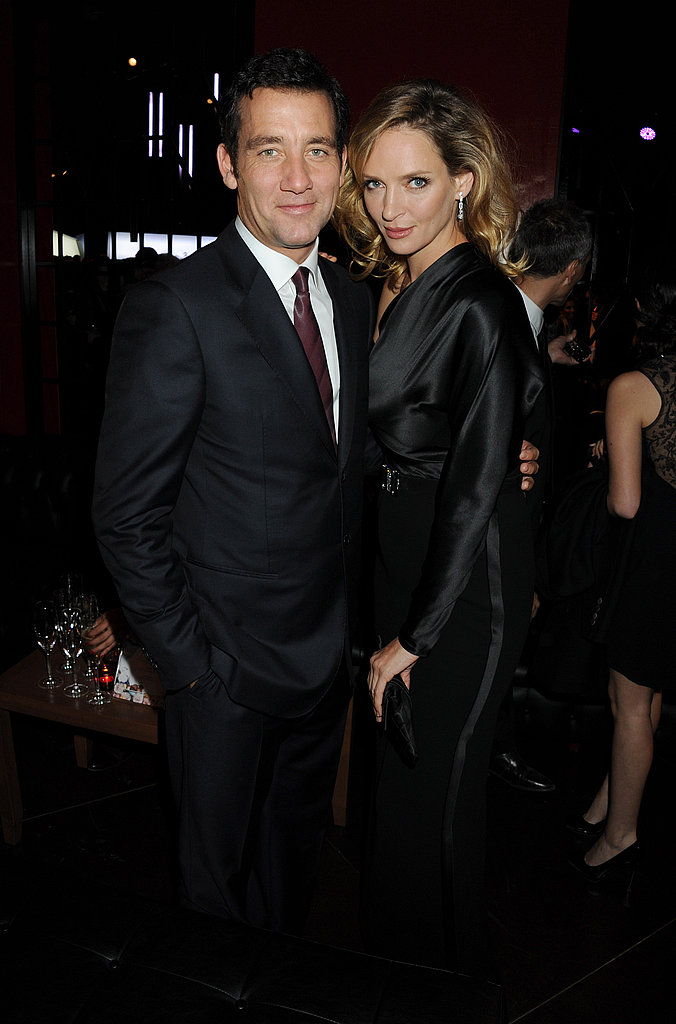 Uma Thurman and Clive Owen attended a Vertu event in Milan, Italy.