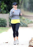 Reese Witherspoon on a run in Brentwood.
