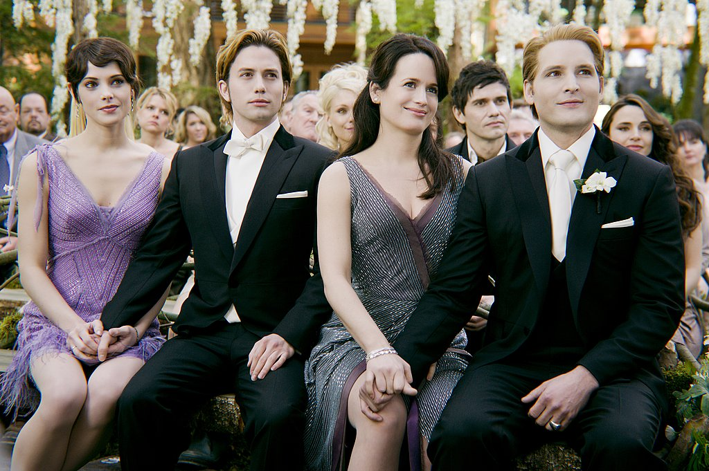 Ashley Greene, Jackson Rathbone, Elizabeth Reaser, and Peter Facinelli attended Kristen Stewart and Robert Pattinson's wedding in Breaking Dawn Part I.