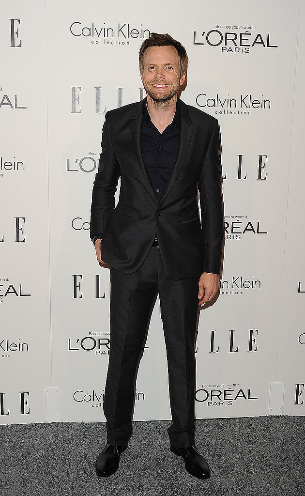 Joel McHale in all black.