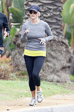 Reese Witherspoon running in Spandex pants.