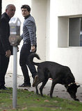Orlando Bloom went to a pet hospital in LA.