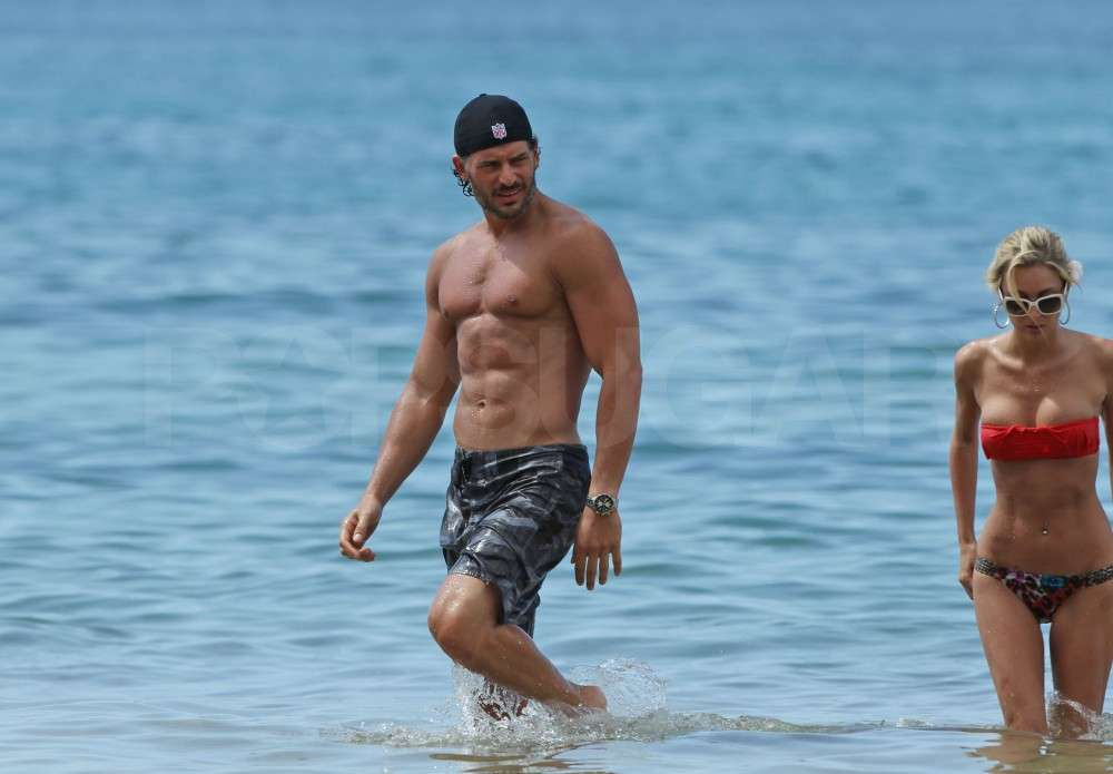 Joe Manganiello had a bikini-clad friend with him at the beach.