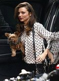 Miranda Kerr went to her hotel in NYC.