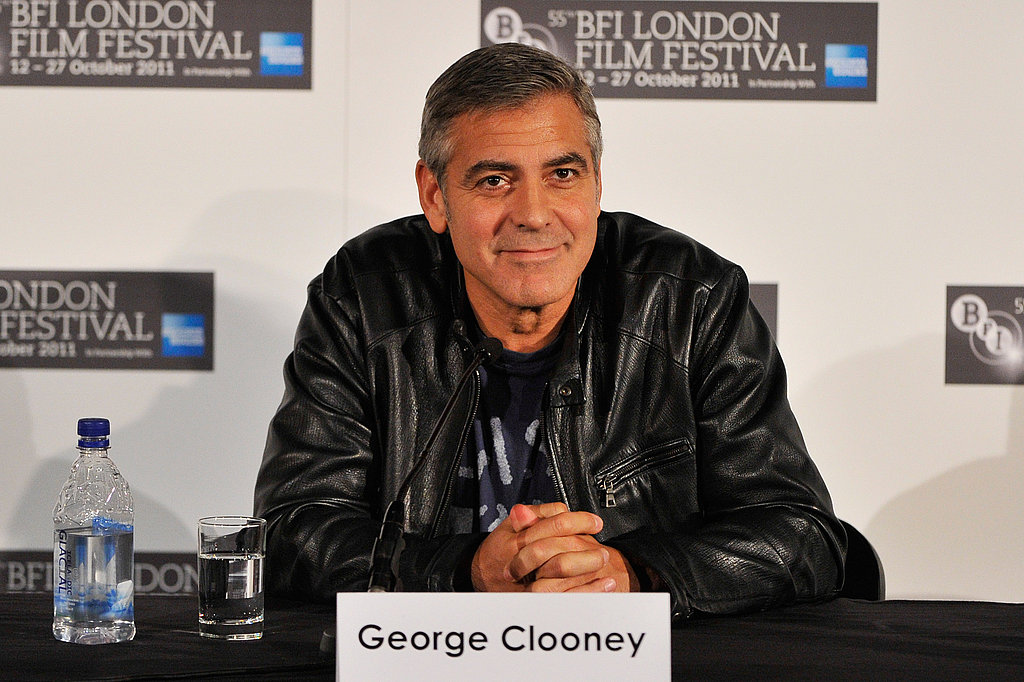 George Clooney fielded questions about The Ides of March in London.
