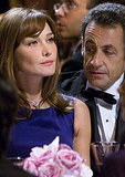 Carla Bruni and Nicolas Sarkozy dress their best for an event in 2008.