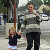 Jennifer Garner Grabs Starbucks With Seraphina Pictures
