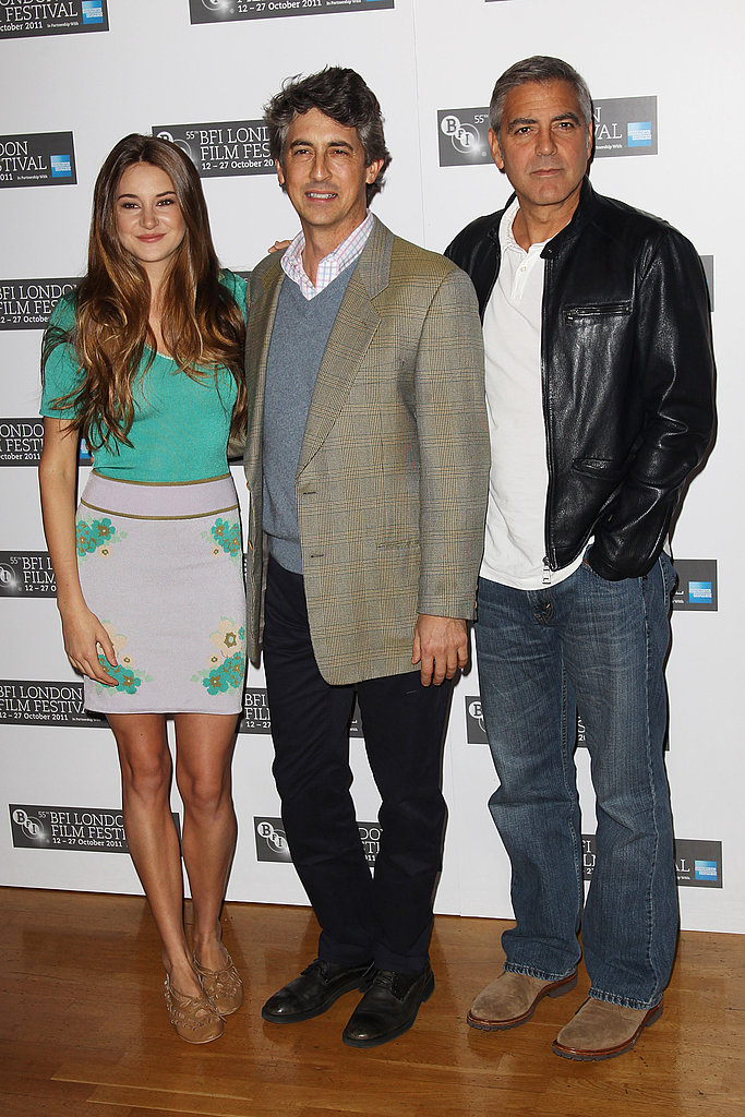 George Clooney gathered with Alexander Payne and Shailene Woodley at a photo call for The Descendants.