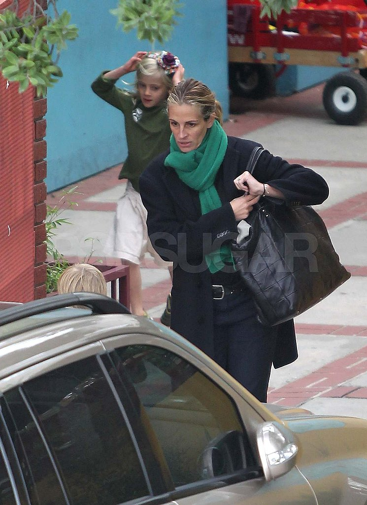 Julia Roberts with her kids in LA.