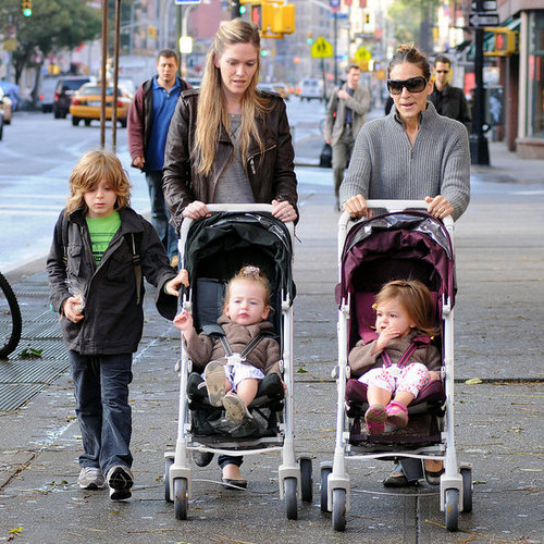 Sarah Jessica Parker, James, Tabitha, and Loretta on Walk Pictures