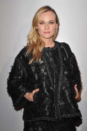 Diane Kruger stayed warm in Paris.
