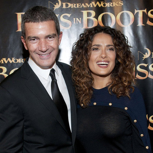Salma Hayek and Antonio Banderas at SF Premiere Pictures