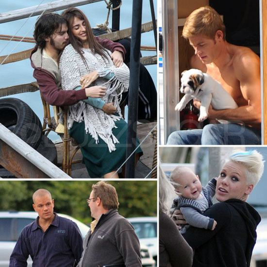Penelope Cruz, Matt Damon, Pink, and More Stars on Set This Week!