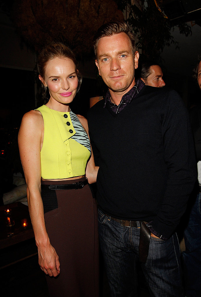 Kate Bosworth and Ewan McGregor met up at the CFDA party at the Soho House.
