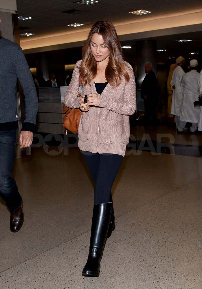 Lauren Conrad arriving at LAX.