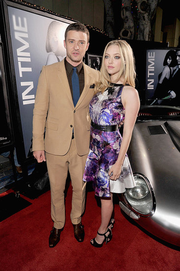 Justin Timberlake and Amanda Seyfried arrived at the In Time premiere in LA.