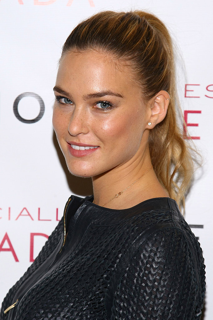 Bar Refaeli in leather.