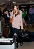 Lauren Conrad with her luggage at LAX.