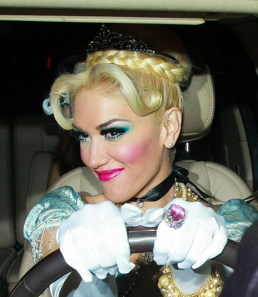 Gwen Stefani dressed as Cinderella.