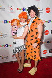 Melissa Rycroft and her husband, Tye Strickland, dressed up as the Flintstones with their daughter, Ava, for the 2011 Dream Halloween charity event in LA.
