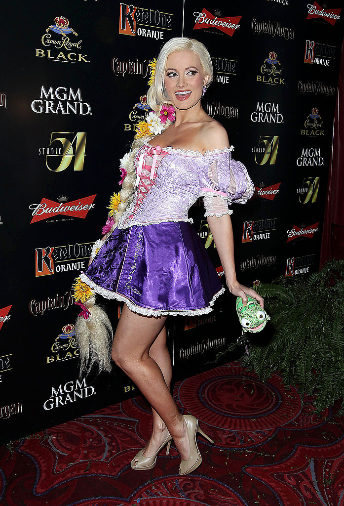 "Holly Madison wore a sexy costume to her 2011 ""Hollyween"" party at the MGM Grand in Las Vegas."