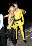 Ali Larter and Hayes MacArthur at Kate Hudson's Halloween party.