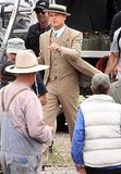 Leonadro DiCaprio on the set of The Great Gatsby in Sydney.