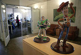 These Woody and Buzz figurines were actually created from a 3D printer, using the original digital renderings of the characters. They were then painted — including the friendly twinkle in their eyes — their familiar color schemes after printing was completed.   Images courtesy of Pixar