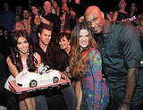Kim Kardashian posed with her cake, as well as Kris Humphries, Kris Jenner, Khloe Kardashian, and Lamar Odom.