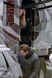 Blake Lively with Ryan Reynolds on the set of R.I.P.D. in Boston.