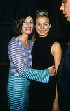 Julia Roberts flashed her pearly whites with Cameron Diaz at the premiere party for My Best Friend's Wedding in 1997.