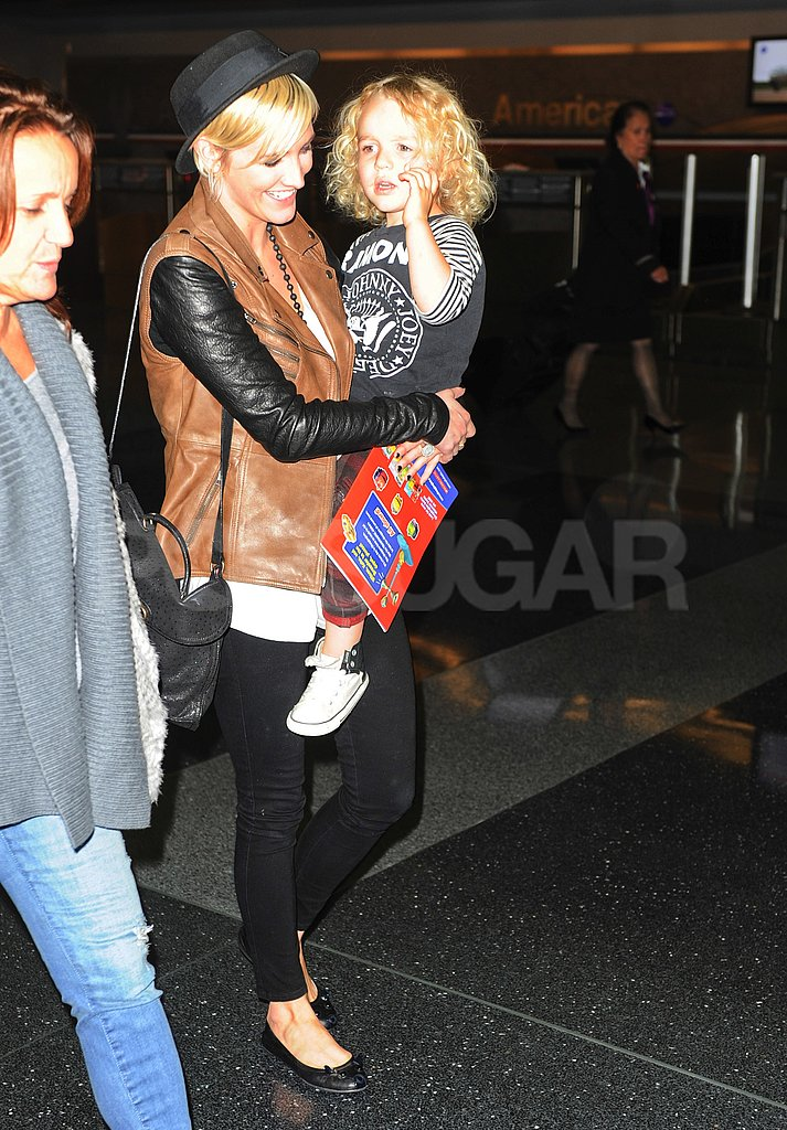 Ashlee Simpson and Bronx Wentz in NYC.