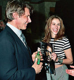 A fresh-faced Julia Roberts hung out with Harrison Ford at ShoWest in 1993.