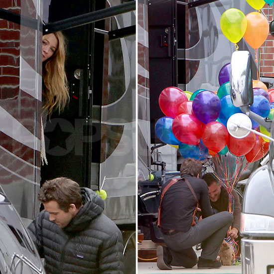 Blake Lively Surprises Ryan Reynolds on Set For His Birthday