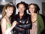 Julia Roberts posed backstage at the Rainforest Foundation Benefit Concert in 1997 with Sting and his wife Trudie Styler.