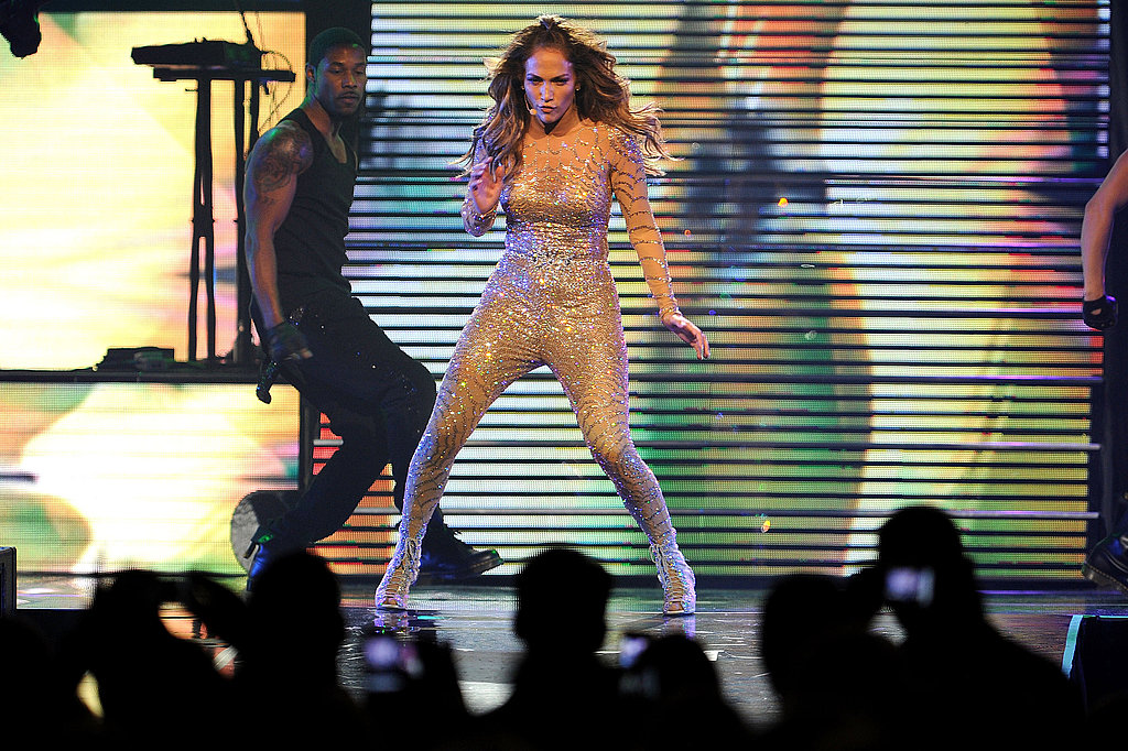 Jennifer Lopez danced at Mohegan Sun.