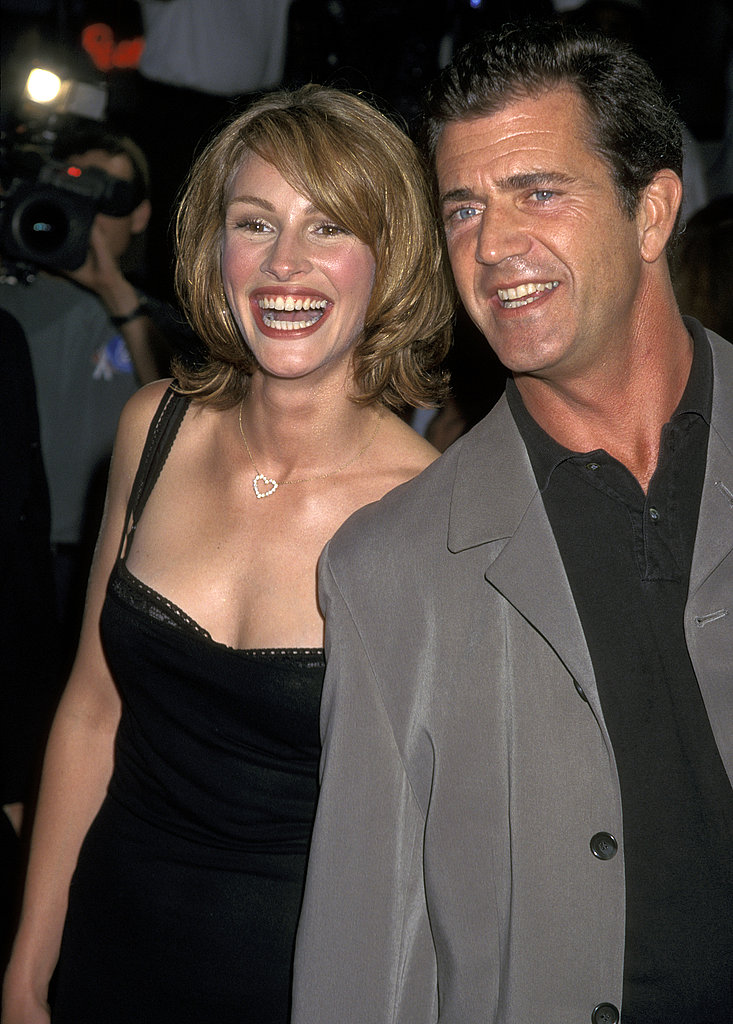 Julia Roberts posed with pal Mel Gibson at the Conspiracy Theory premiere in 1997.