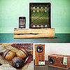 Natural and Wooden Portable Speakers