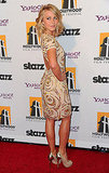 Julianne Hough showed off the back of her dress.