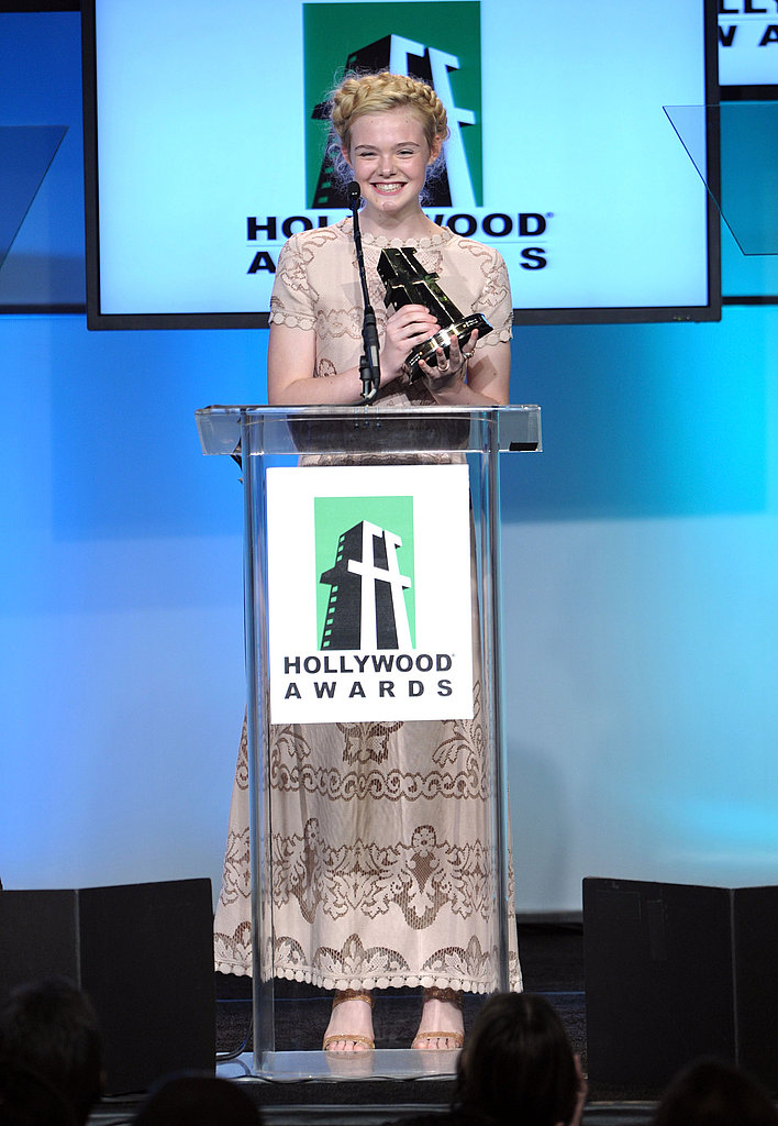 Elle Fanning nabbed the Hollywood Spotlight award at the 2011 Hollywood Film Awards.