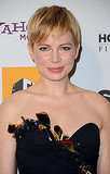 Michelle Williams in a black Nina Ricci dress.