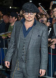 Johnny Depp had major swagger on the red carpet.
