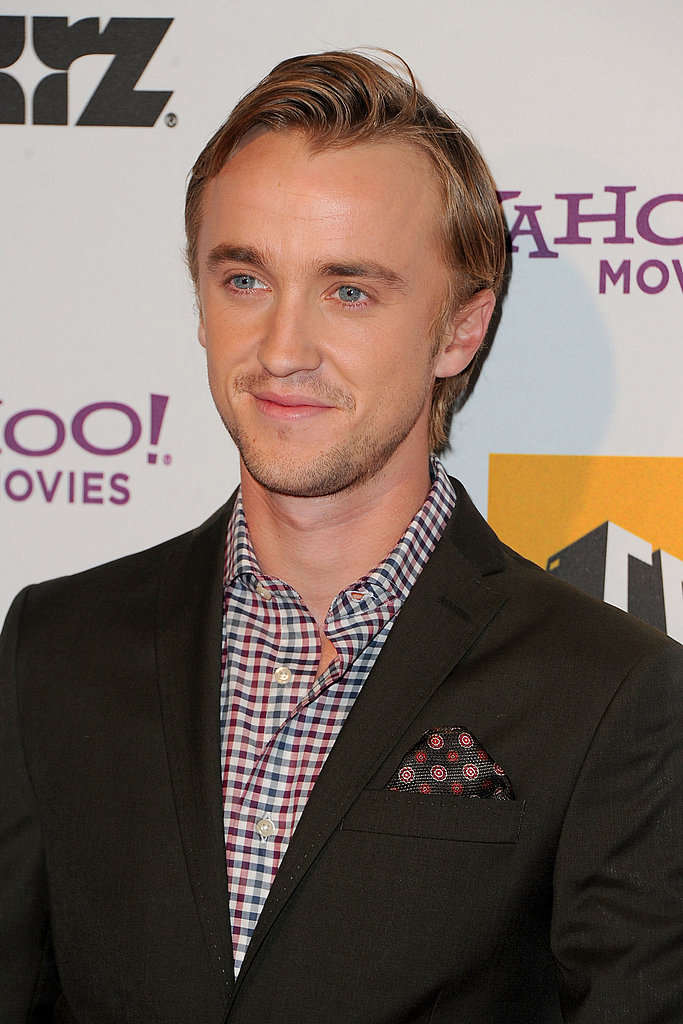 Tom Felton opted for a plaid shirt for the Hollywood Film Awards.