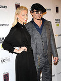 Johnny Depp had leading lady Amber Heard by his side.